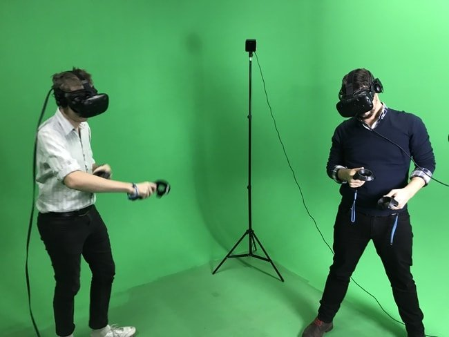 VR in action.